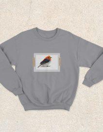 sweater burung cabai abu