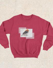 sweater burung cabai merah
