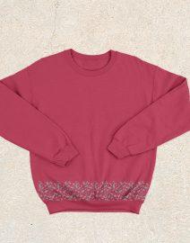 sweater siluet merah